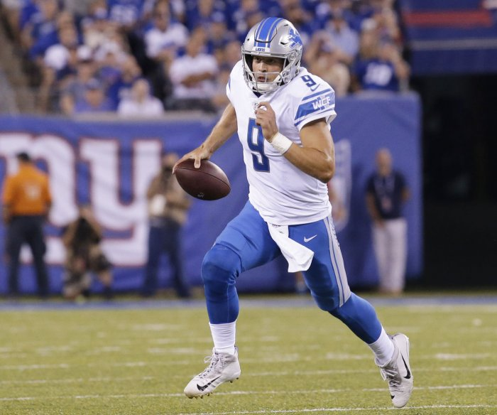 Stafford's two TDs help Detroit Lions beat N.Y. Giants