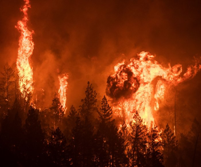 Scenes from California's record-breaking wildfire season