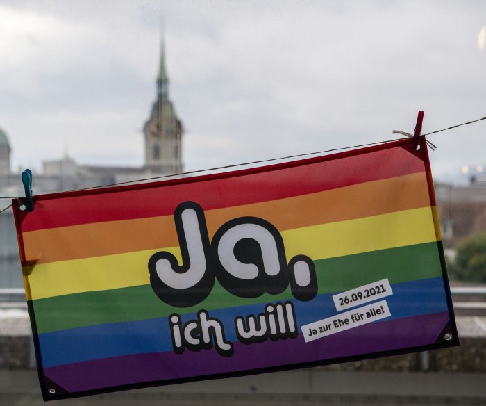 Switzerland overwhelming votes 'yes' to same-sex marriage