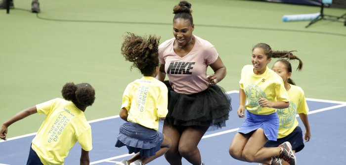 Serena Williams attends Arthur Ashe Kids Day