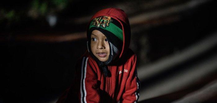 Children of the migrant caravan