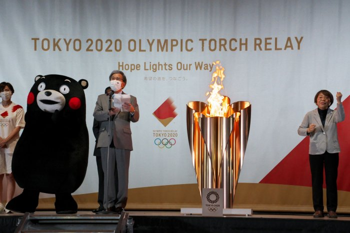 Olympic torch relay underway in Japan