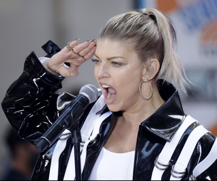 Fergie performs on 'Today' in New York