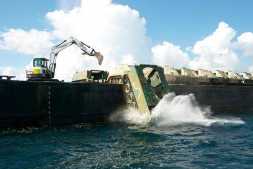 National Guard creates ocean reefs with unused vehicles