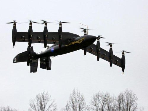 NASA tests 10-engine electric airplane