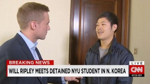 South Korean NYU student detained in North Korea gives interview