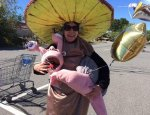 Maine author dresses like mushroom, attempts 40-mile walk to protest student loans