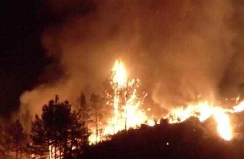 Sand Fire burns through more than 11,000 acres in So. California
