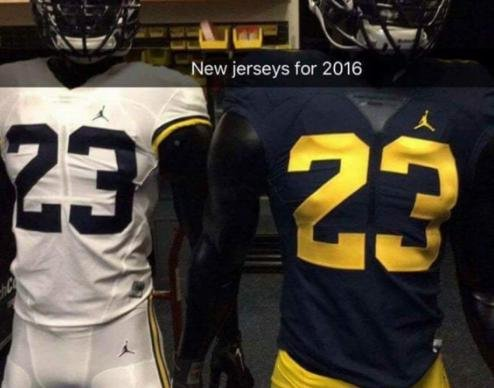 Michigan Football: 'Jumpman' jerseys might have been leaked