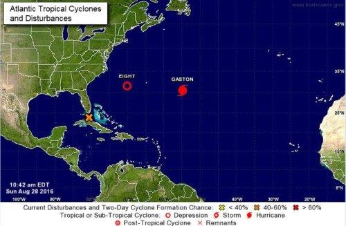 Tropical depression forms off Carolinas coast as disturbance gains strength