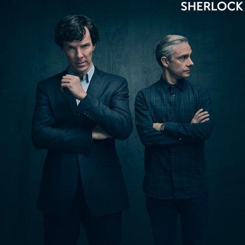 'Sherlock': Benedict Cumberbatch, Martin Freeman brood in Season 4 photo