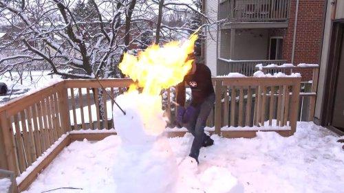 Watch: Super hot katana sword cuts fireworks in slow motion