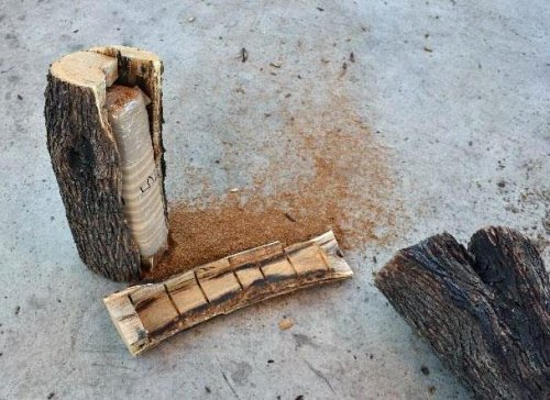 Look: Customs agents find pot in hollowed out mesquite firewood