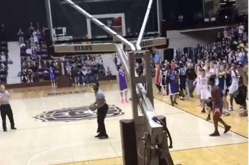 Watch: Referee slam dunks at high school tournament