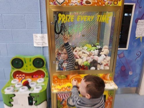 Watch: Boy, 3, traps self in claw machine at Ireland play center