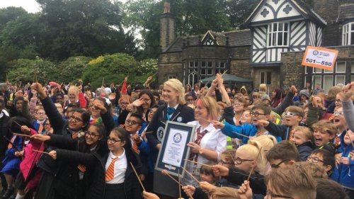 Record 600 students dress as Harry Potter to celebrate 20th anniversary