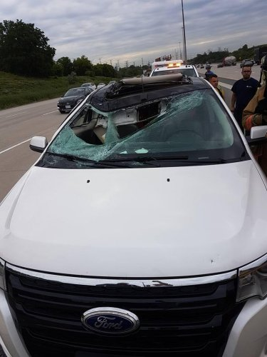 Tire-crashes-through-woman's-windshield-on-Canadian-highway