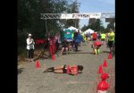 Permalink to Marathon runner takes a fall, rolls across the finish line
