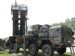 PAC-3 anti-ballistic missile launcher downs target via remote control