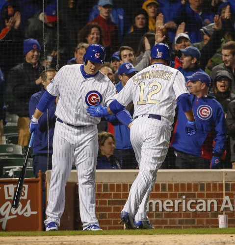 Slumping Kyle Schwarber delivers key hit in Chicago Cubs' 7-4 win over Boston Red Sox