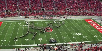 WATCH Ohio State marching band's incredible classic rock halftime show