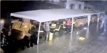 Watch: Hurricane throws man 30 feet in Russia [VIDEO]