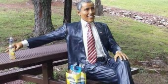 Stolen Obama statue discovered with six-pack of Twisted Tea in Pa. park