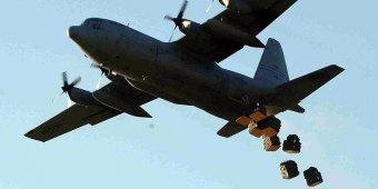 U.S. airdrops weapons and medical supplies to Syrian Kurds in Kobane