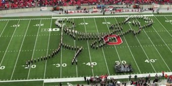 WATCH: Ohio State's marching band performs classic rock halftime show