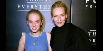 Uma Thurman's look-alike daughter, Maya, attends film premiere with her mom