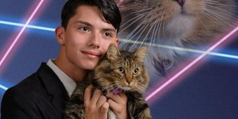 HS student insists on laser cat pic for yearbook photo