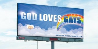Group tweaks Westboro Baptist Church with 'God Loves Gays' campaign