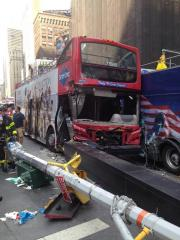 Watch live as rescuers respond to Times Square double-decker bus crash