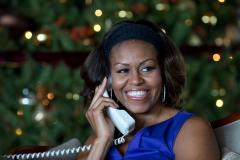 Michelle Obama chats with kids across North America on Christmas Eve