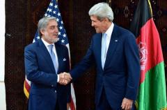 John Kerry meets with Afghan presidential candidates in Kabul on political transition
