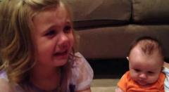 See It: 5-year-old girl begs baby brother not to grow up