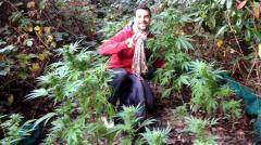 Hiking couple stumble on pot farm in London forest