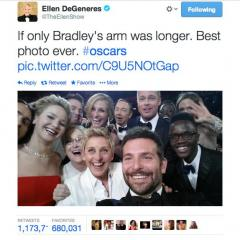 Oscars 2014: Ellen DeGeneres snaps the world's most epic selfie