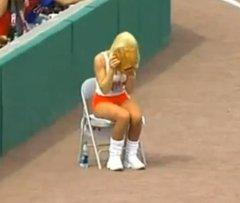 Ballgirl interferes with fair ball
