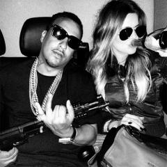 Khloe Kardashian, French Montana pose with a gun in Instagram pic