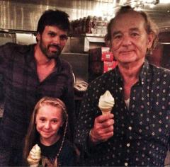 Bill Murray attends fan's 'Bill Murray Ice Cream Social'