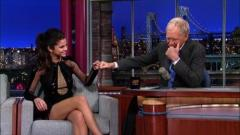 Gomez, Letterman joke about making Bieber cry