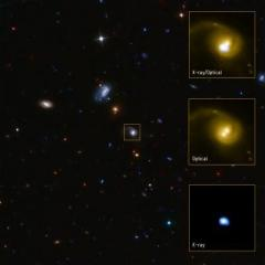 Black hole 'evicted' from host galaxy?