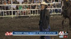 Missouri rodeo clown banned for Obama mask flap