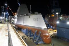 Zumwalt-class destroyer visited by Sec. Hagel