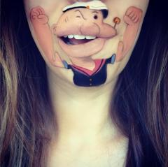 Gallery: Makeup artist uses her chin as canvas for perfect cartoon renderings