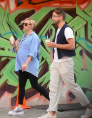 Scarlett Johansson spotted with fiance Romain Dauriac during ice cream stroll