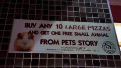 Pizza Hut apologizes for 'free small animal' promotion