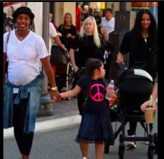 Kelly Rowland, Ciara go for a stroll with their kids in LA