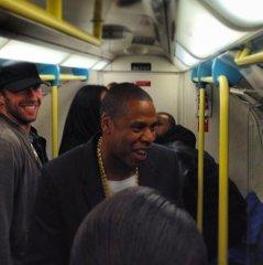 Jay Z, Chris Martin, Timbaland take subway to concert